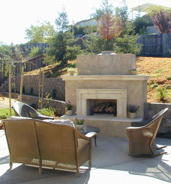 Fireplace design landscaper el dorado hills for Eldorado stone fire pit